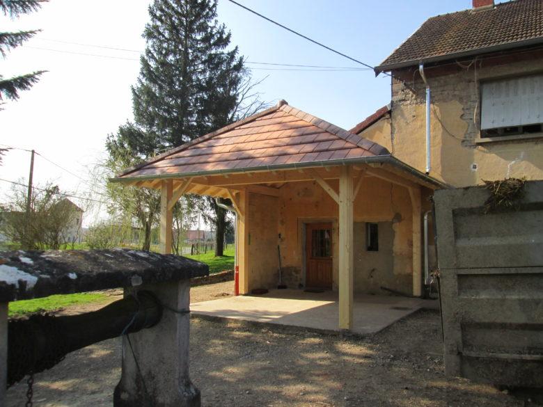 Fabrication charpente terrasse bois