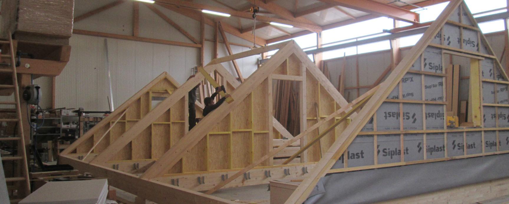 Fabrication en interne ossature bois